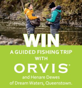 Win a fly fishing trip with Orvis in Queenstown